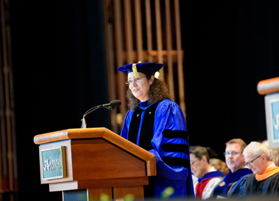 Dean Walker at 2019 commencement